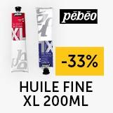 - 33% gamme huile fine XL 200ml pébéo