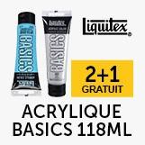 2+1 gratuit gamme acrylique basic 118ml liquitex