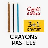 3+1 gratuit crayons pastel conté à parie