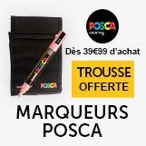 pour 39.99€ d'achat de marqueurs posca, un trousse vide offerte