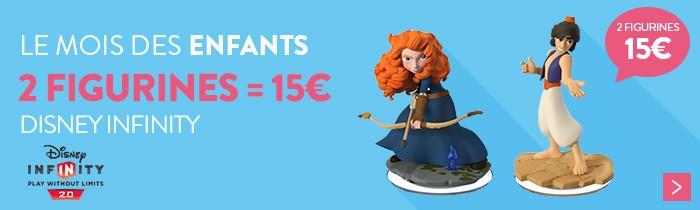 Disney Infinity 2 figurines pour 15€