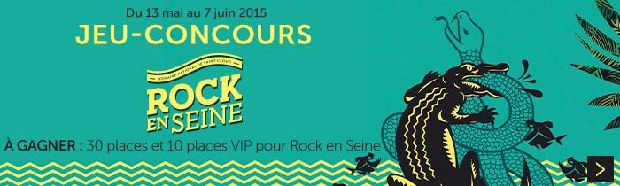 Jeu concours Rock en Seine