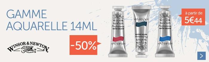 - 50% sur la gamme aquarelle Winsor&Newton