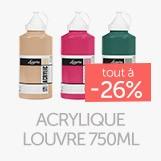 Gamme acrylique louvre 750ml à - 26%