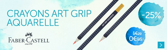 - 25 % sur la gamme de crayon art grip aquarellable