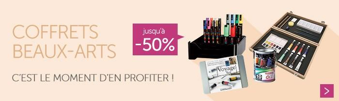 Profitez de promotions jusqu'à - 50% sur les coffrets beaux-arts