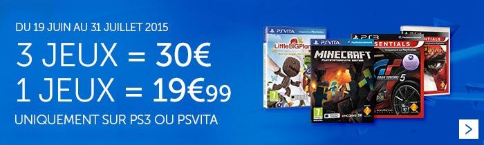 3 jeux = 30€
