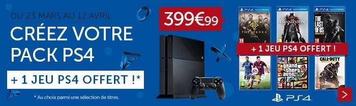 1 PS4 + 1 jeu offert