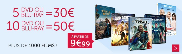 5 pour 30€ / 10 pour 50€