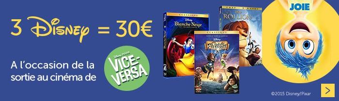 3 disney = 30€