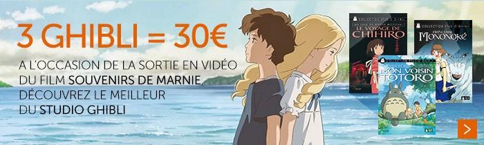 Studio Ghibli 3 DVD = 30€