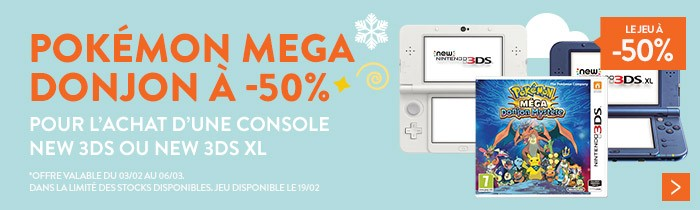 New3DS + Pokémon à -50%