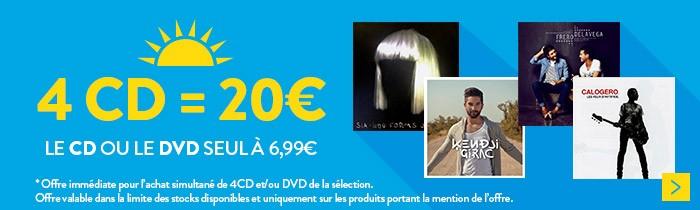 4 CD/DVD = 20€