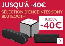Promo enceintes bluetooth Sony
