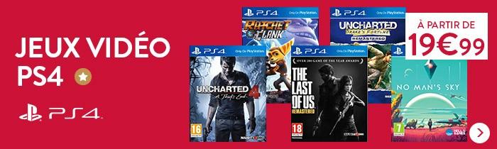 Jeux PS4 à partir de 19.99€