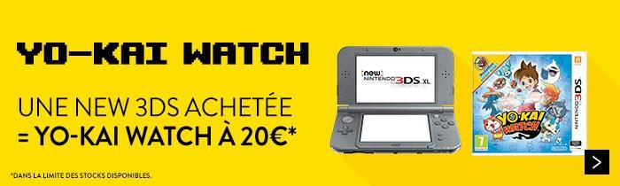 New 3DS + Yo-Kai à 20€