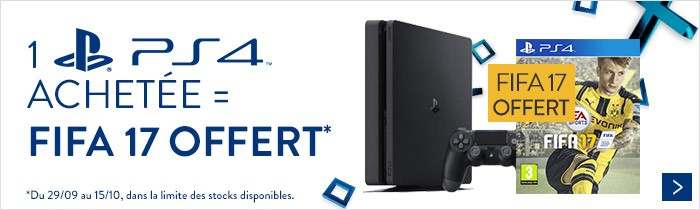 PS4 1To + FIFA 17 offert