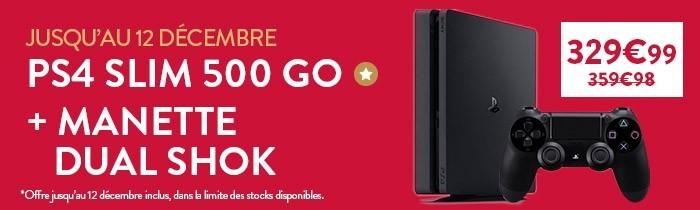 Offre PS4 + Manette à 329.99€