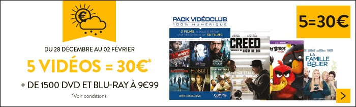 5 vidéos = 30€