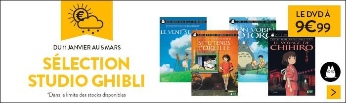 DVD Studio Ghibli à 9.99€