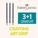 3+1 gratuit sur les crayons aquarelle art grip