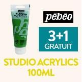3+1 gratuit sur la peinture Studio Acrylics 100ml pebeo