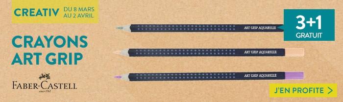3+1 gratuit sur les crayons art grip