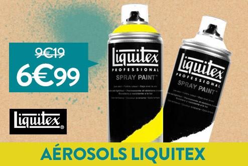 Aérosols Liquitex à 6€99