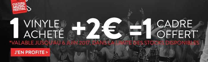 Offre vinyles: 1 cadre vinyle à 2€
