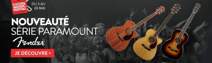 Guitares Fender série Paramount