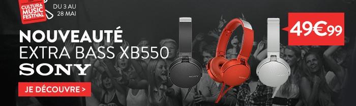 Casque arceau Sony XB550