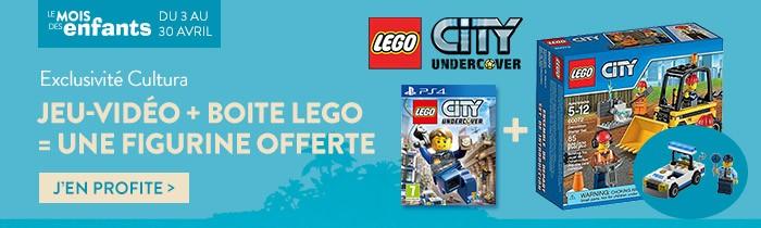 Jeu vidéo LEGO + boite LEGO = 1 fugurine LEGO offert