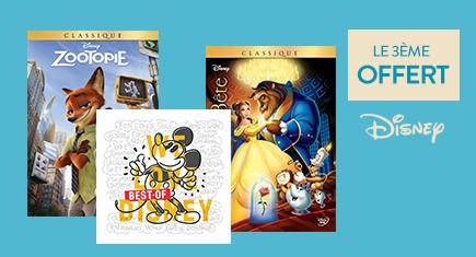 2 Disney achetés = le 3ème offert