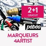 2 marqueurs 4 artist pebeo  achetés, le 3ème offert