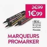 - 33% sur les marqueurs promarker soit 1.99€ le marqueur