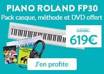 Promo piano numérique Roland FP30