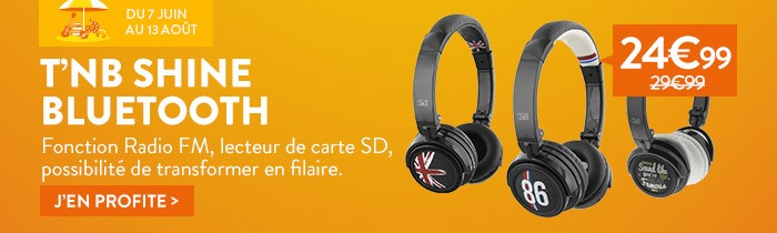Promo casque bluetooth shine t'nb