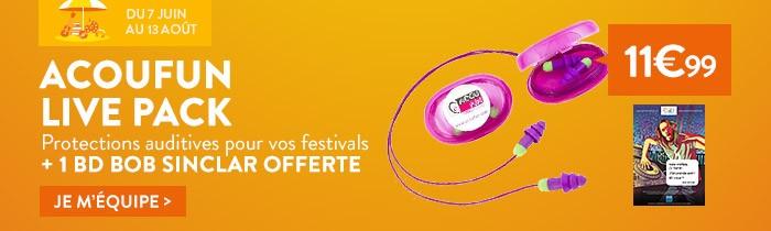 Protections auditives acoufun pour concert et  festival