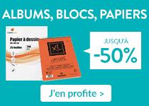 albums, blocs, papiers