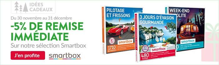 Smartbox vous offre une remise immédiate de 5% sur une sélection de produits