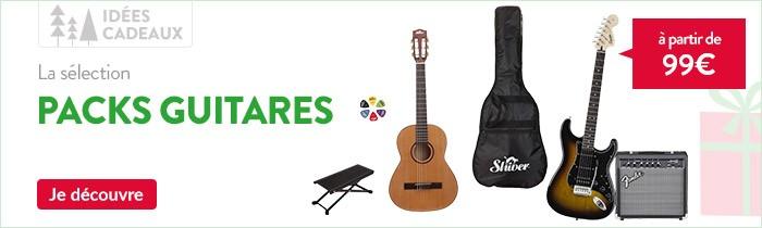 Pack guitare classique, pack guitare folk et pack guitare électrique