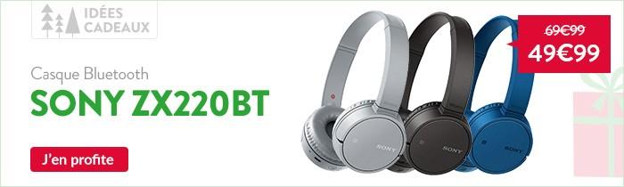 Promo casque bluetooth Sony