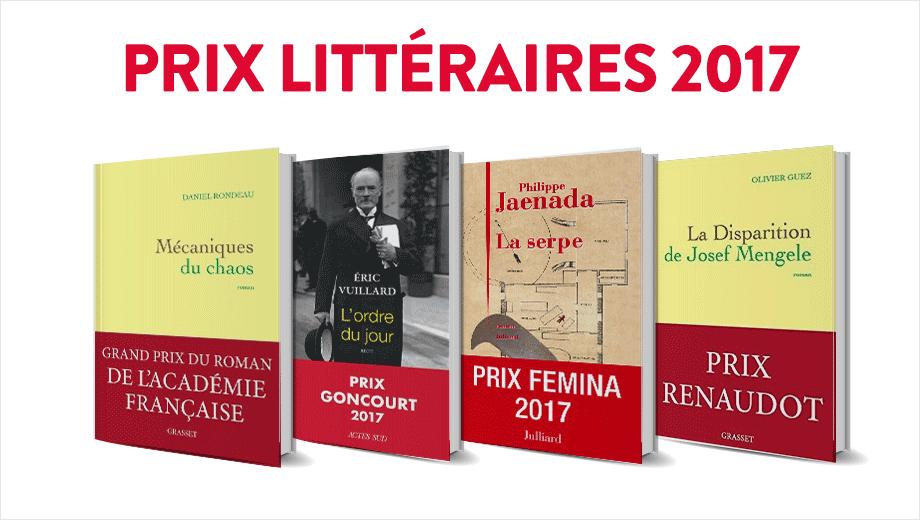 livre Prix littéraires 2017