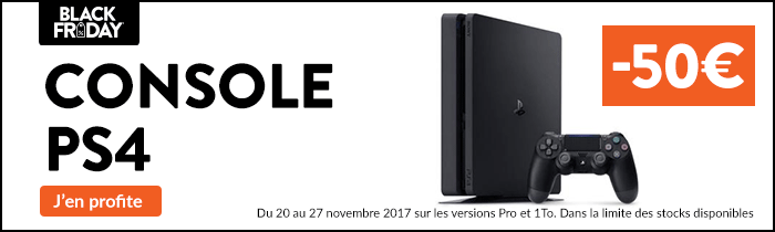 PS4 -50€ Black Friday