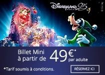 Disneyland Billet Mini à partir de 49€ par adulte