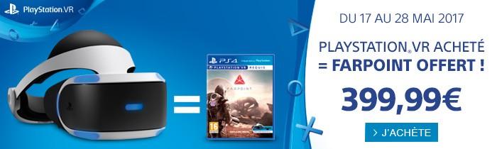 PS VR + Farpoint offert