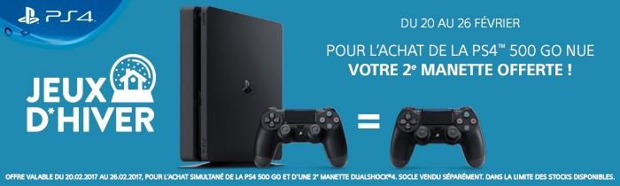 1 PS4 achetée = 1 manette offerte