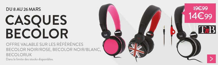 Promo casques Becolor T'nb