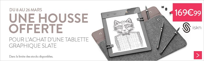 Promo tablette graphique Slate