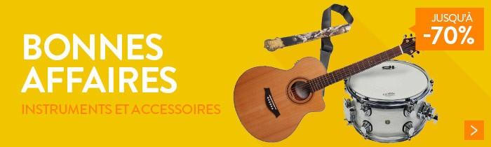 Instruments de musique et accessoires jusqu'à -70%